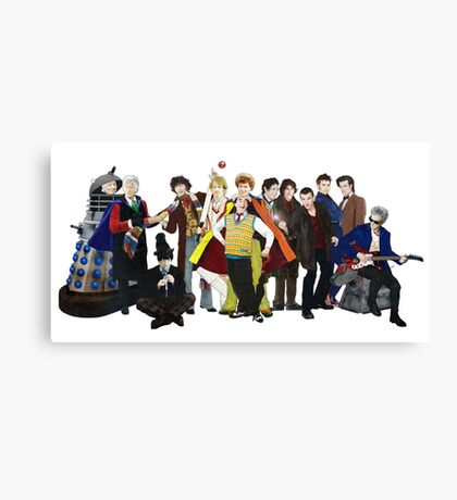 Doctor Who - The 13 Doctors II (lineup) Canvas Print