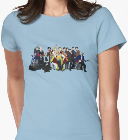 Doctor Who - The 13 Doctors II (lineup) Womens Fitted T-Shirt