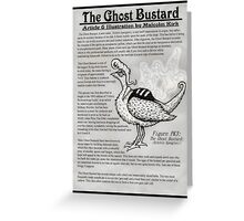 The Ghost Bustard Greeting Card