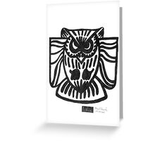 LINE : Owl Greeting Card