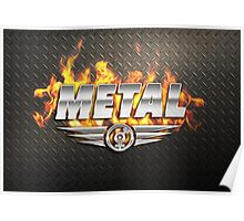 Heavy Metal Fire Poster