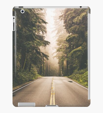 Forrest Tree Lined Road - Road Trip Driving iPad Case/Skin