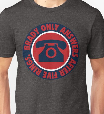 Brady Only Answers After Five Rings (Navy/Red/Navy) Unisex T-Shirt