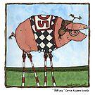 Stilt pig by Corrie Kuipers