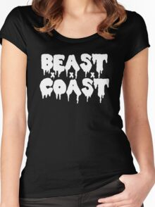 Beast Coast - White Women's Fitted Scoop T-Shirt