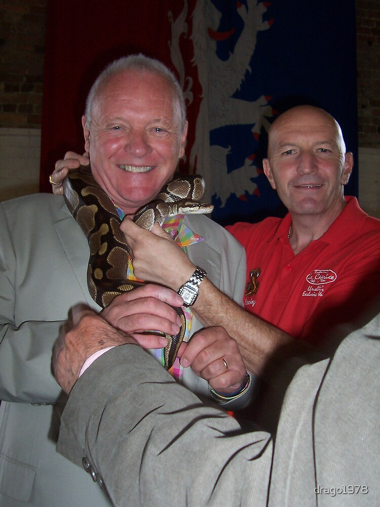 Anthony Hopkins with Royal python on 7th august 2007 by drago1978