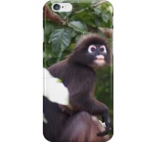 Black and white monkey iPhone Case/Skin