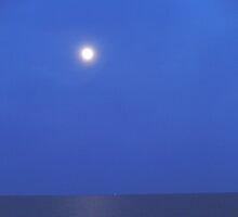 The moon over Nantucket Sound by Kimberly  Gemme