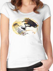 Coffee Hand Yin Yang yinyang Women's Fitted Scoop T-Shirt