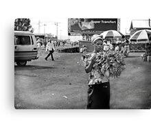 """Roadside Beauty"" Goma, Democratic Republic of Congo Canvas Print"
