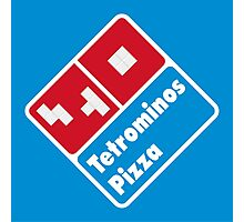 Tetrominos Pizza Photographic Print