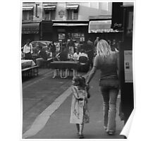 Mother and Daughter at Rue. St. Benoit Poster