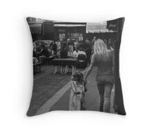 Mother and Daughter at Rue. St. Benoit Throw Pillow