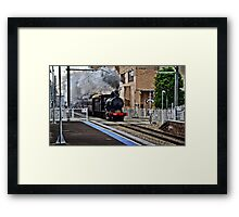 Steam Engine 3237 - The Last Ride Out of Newcastle NSW Framed Print