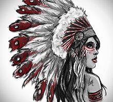 Red Indian - Color  by Mamzelle-Lune