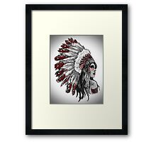 Red Indian - Color  Framed Print