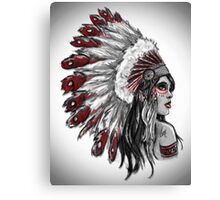 Red Indian - Color  Canvas Print