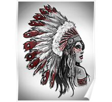 Red Indian - Color  Poster