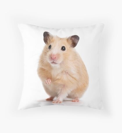 Cute Hamster Rodent  Throw Pillow