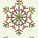 Season's greetings - snowflake design by drunkonwater