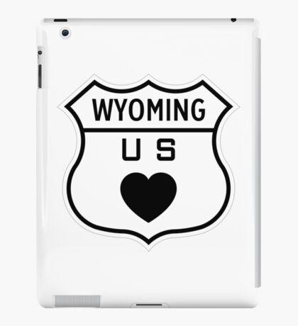 Wyoming US Highway love iPad Case/Skin
