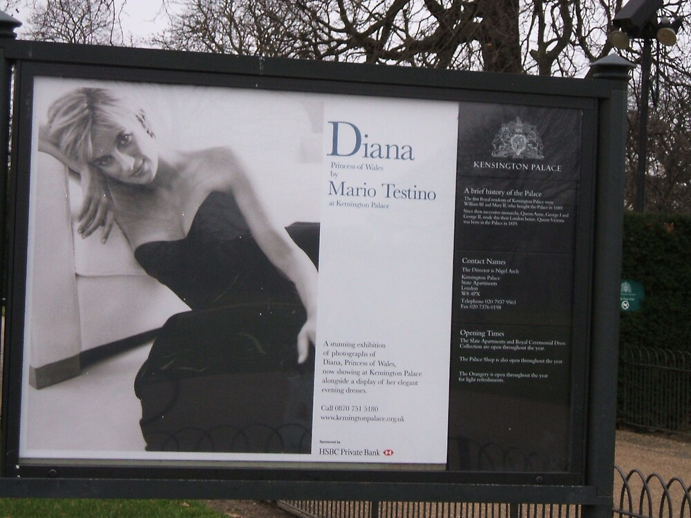 Sign at Kensington Palace re: Diana by bethross