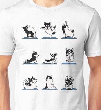 Funny Husky Yoga T Shirt - Yoga Husky Lover. Unisex T-Shirt
