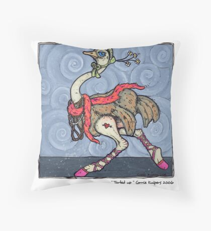 Tarted up Throw Pillow