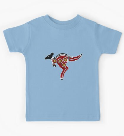Aboriginal Art Kangaroo Kids Tee