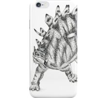 Kentrosaurus Pen & Ink Drawing iPhone Case/Skin