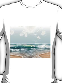 """At The Beach"" Digital Art T-Shirt"