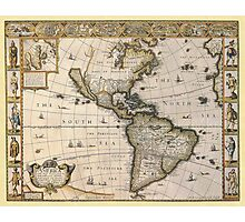 Americas Map 1626 Photographic Print