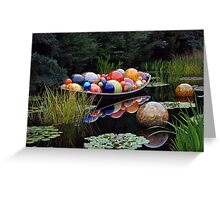 """""""Float Boat"""" by Dale Chihuly Greeting Card"""