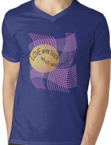 *Love Wins Back* Mens V-Neck T-Shirt