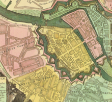 Berlin Map 1720 Sticker
