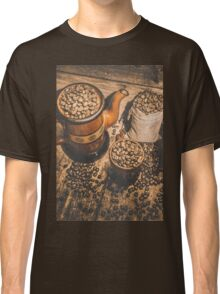 Old coffee brew house beans Classic T-Shirt
