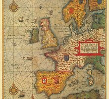 Europe Map 1584 by solnoirstudios