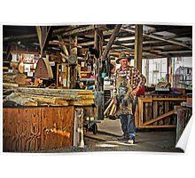 Morrisons Huon Pine Sawmill - Strahan Tasmania Poster