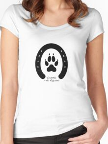 Horse shoe and canine paw print Women's Fitted Scoop T-Shirt