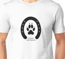 Horse shoe and canine paw print Unisex T-Shirt
