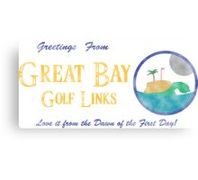 Great Bay Golf Links Canvas Print