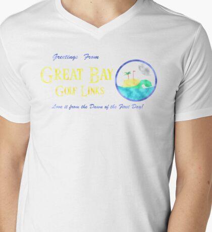 Great Bay Golf Links Mens V-Neck T-Shirt