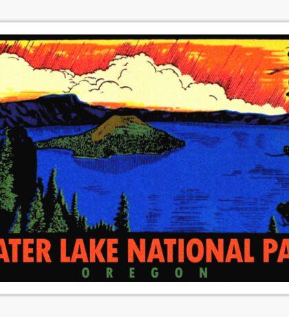 Crater Lake National Park Oregon Vintage Travel Decal Sticker