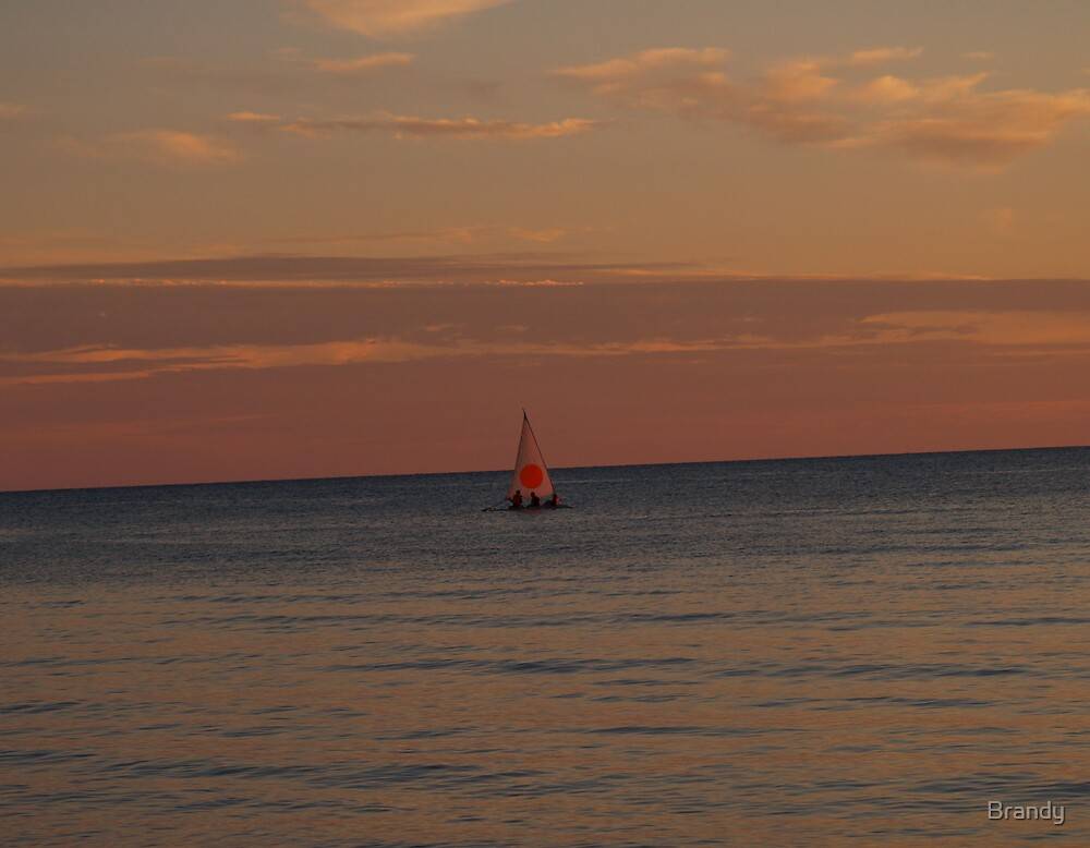 Sailing into the sunset by Brandy