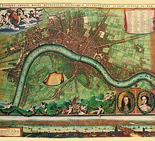 London Map 1600s by solnoirstudios