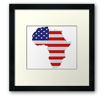 African American Africa United States Flag Framed Print