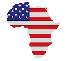 African American Africa United States Flag Photographic Print