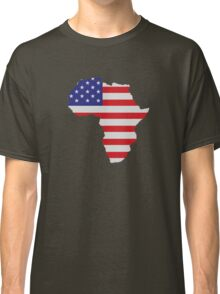 African American Africa United States Flag Classic T-Shirt