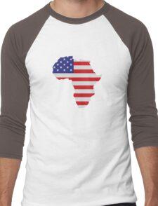 African American Africa United States Flag Men's Baseball ¾ T-Shirt