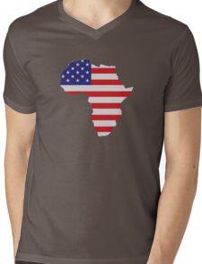 African American Africa United States Flag Mens V-Neck T-Shirt